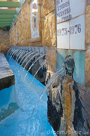 наземный ориентир фонтана