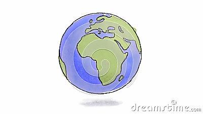 Нарисованный рукой закручивать земли