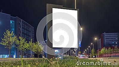 Насмешка плаката города светлая вверх Легкое место ваш дизайн плаката на этой белой предпосылке акции видеоматериалы