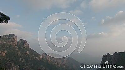 Национальный парк Sanqingshan в провинция Shangrao, Цзянси, Китай акции видеоматериалы