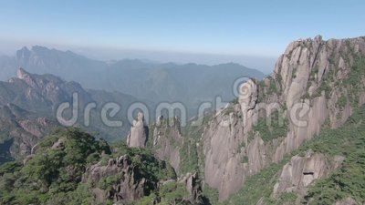Национальный парк Sanqingshan в провинция Shangrao, Цзянси, Китай сток-видео
