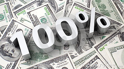 100  на предпосылке доллара