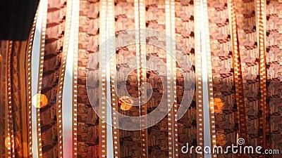 Негативная солорная пленка 36 мм на сушке после разработки акции видеоматериалы
