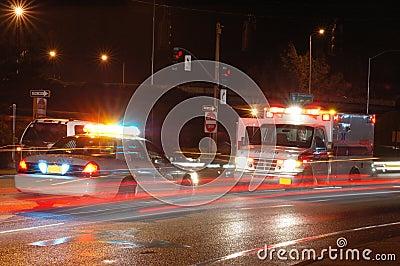 ноча машины скорой помощи