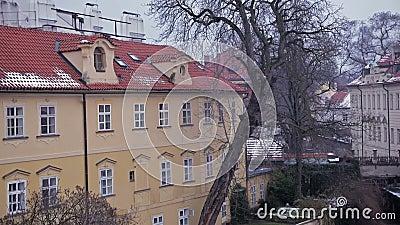 Обваловка реки Готическая Прага акции видеоматериалы