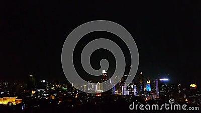 Обозревать городской & горизонт моря, фарфор QingDao (tsingtao) сток-видео