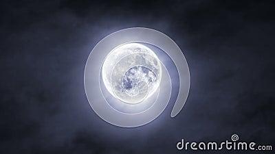 Облака над концом луны вверх сток-видео