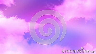 Облака 01 пинка сток-видео