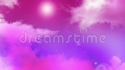 Облака 02 пинка сток-видео