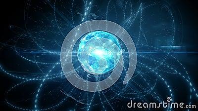 Оживленная глобальная цифровая социальная сеть и