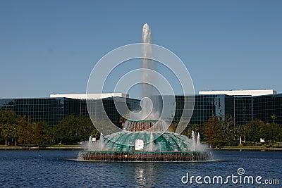 озеро фонтана eola