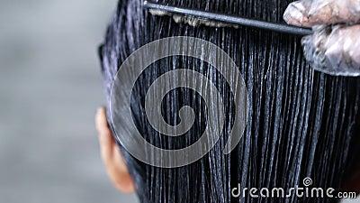 окрашивание волос, краска волос видеоматериал
