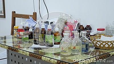 Органические масла и зонды акции видеоматериалы