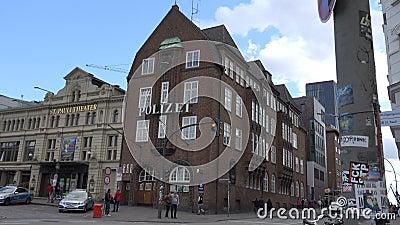 Отделение полици Davidwache в St Pauli Гамбурга сток-видео