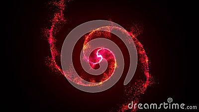 Открытая вспышка света, блик объектива, частицы вращения 3d рендеринг видеоматериал