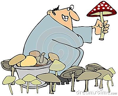 Охотник гриба
