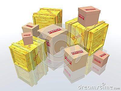 пакеты коробок