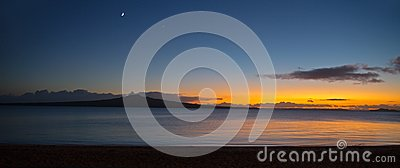 Панорама острова Rangitoto на зоре