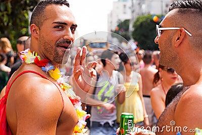 Парад гей-парада Тель-Авив 2013 Редакционное Фото