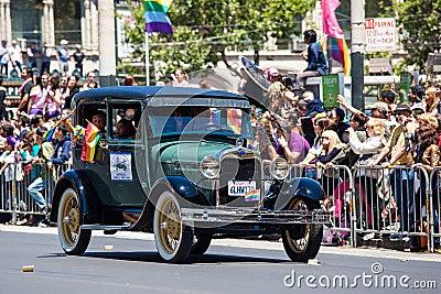 Парад 2012 гордости San Francisco голубой Редакционное Фотография