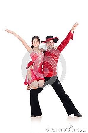 Пары изолированных танцоров
