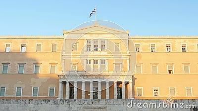 парламент грека athens сток-видео