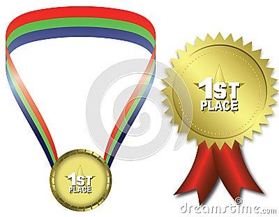 первое место золотой медали