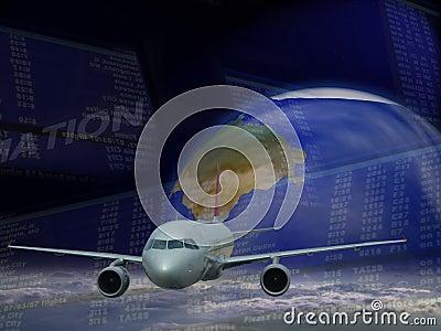 перемещение самолета