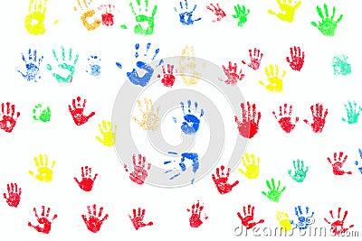 печати руки разнообразности