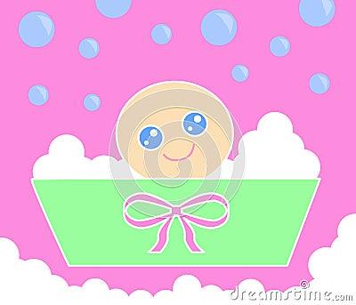 пинк ванны младенца