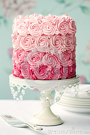 пинк ombre торта