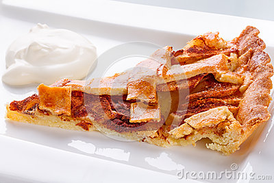 Пирог и сливк Яблока