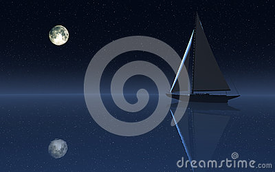 Плавание ночного неба