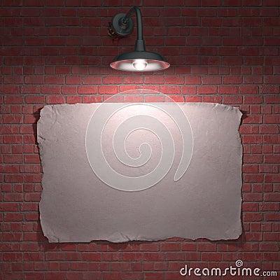 Плакат светильника