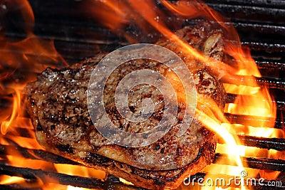пламенеющий стейк