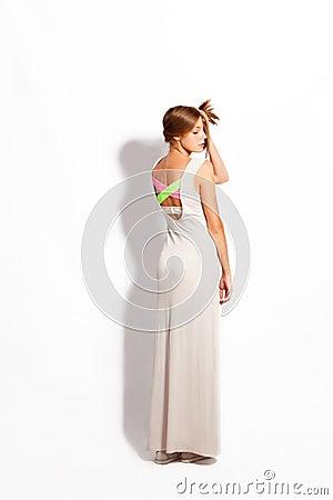 Платье хлопка