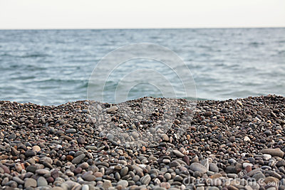 Пляж камушка