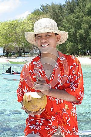 пляж к тропическому гостеприимсву