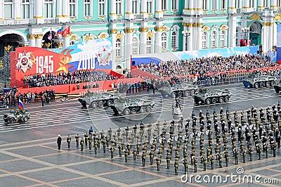 победа военного парада Редакционное Изображение