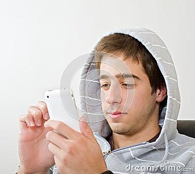 подросток iphone