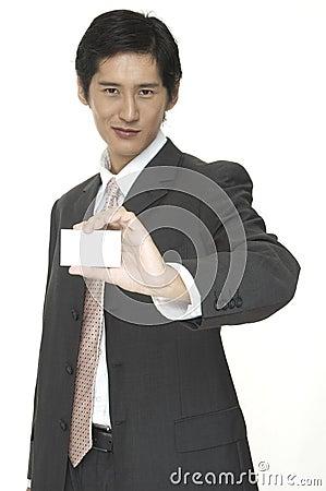 показ визитной карточки