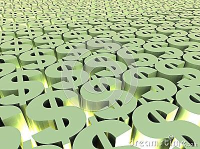 поле доллара