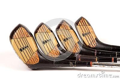 полный гольф прокатал установленные древесины