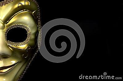 половинная маска