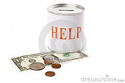 помощь доллара коробки