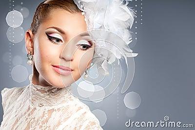 портрет невесты красотки
