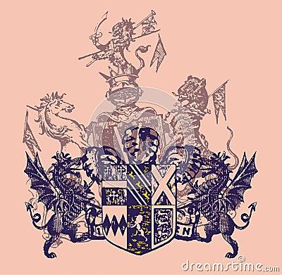 подготовляя heraldry