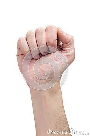 поднятый кулачок