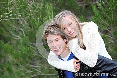 подросток piggyback