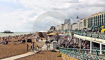 Праздник банка в Brighton Редакционное Изображение